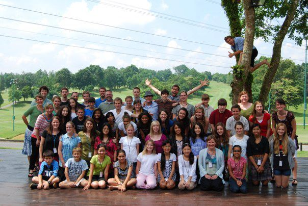 The 57 missionary kids in Asia and the Pacific. What a good looking youth group!