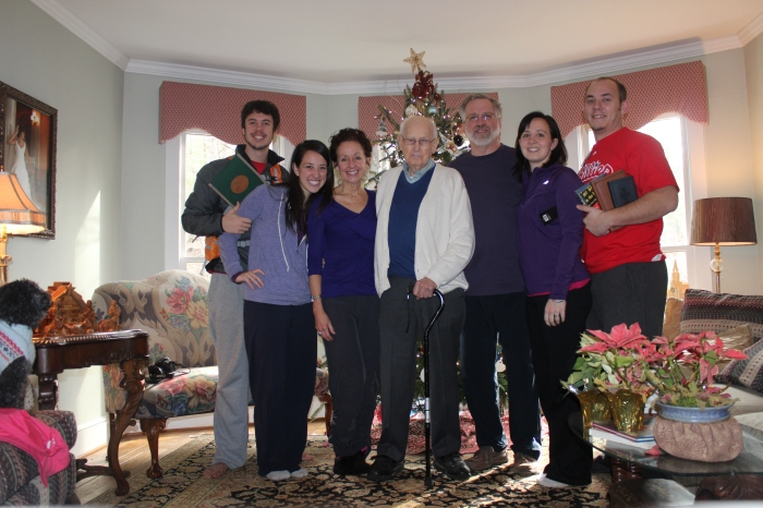 We celebrated Christmas Eve (which is also my dad's and my birthday!) and Christmas day with the Furman family in Salem, VA.