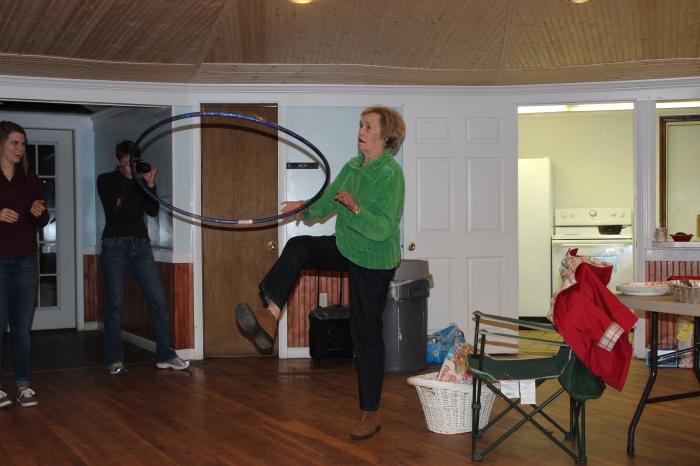 Hula hooping queen!