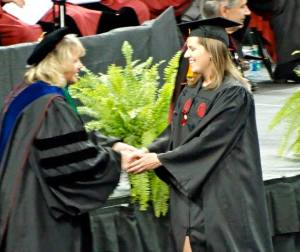 Brooks' sister Carolyne graduating from USC