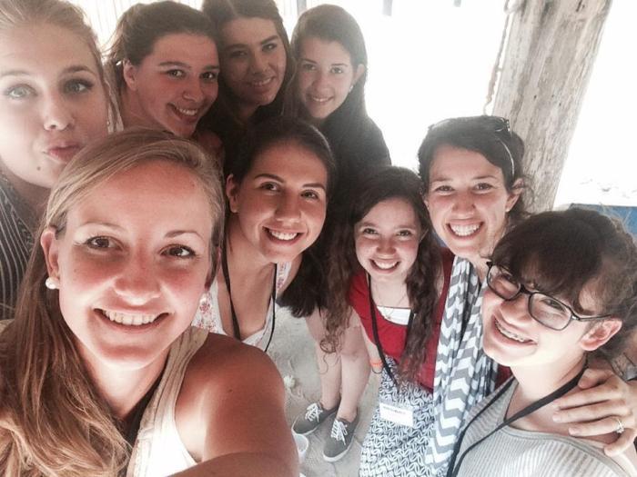 Riva's small group of senior girls