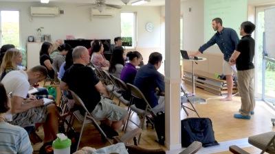 Brooks speaking at Covenant Community School International